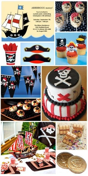 Inspiration Board  Pirate Birthday Party Theme