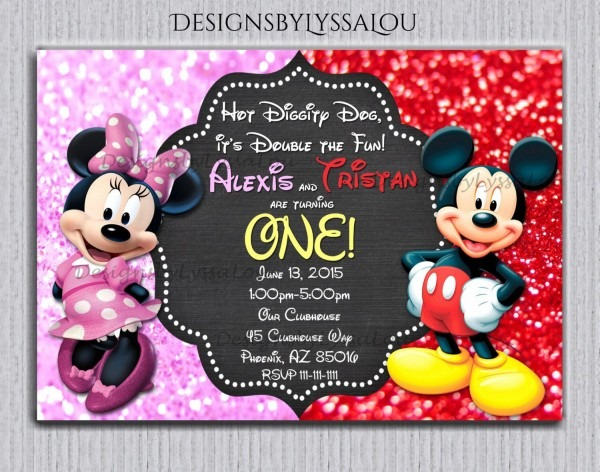 Aceabafcadbfed Luxury Mickey And Minnie Birthday Invitations