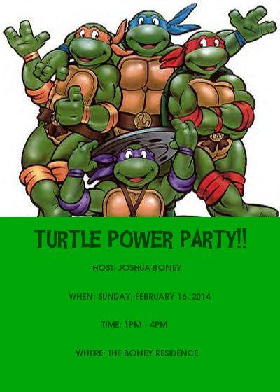 Addbabfaebe Epic Teenage Mutant Ninja Turtles Birthday Invitations