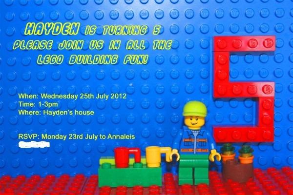 Aeeadbeadafad Trend Lego Birthday Party Invitation Wording