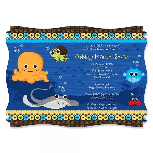 Amazing Under The Sea Baby Shower Invitations 20