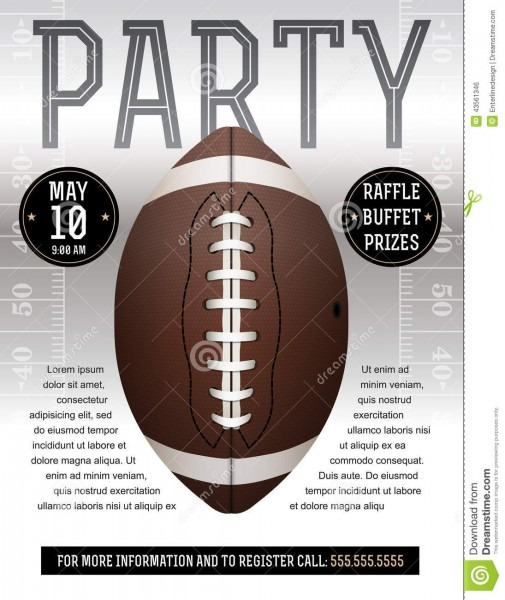 A Flyer Design Perfect For Tailgate Parties Football Invites