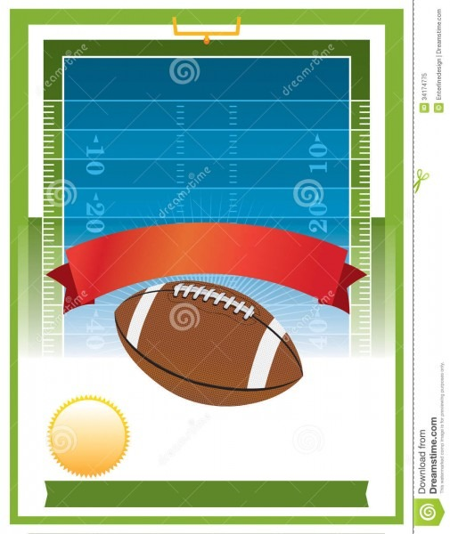 American Football Tailgate Party Flyer Design Stock Vector