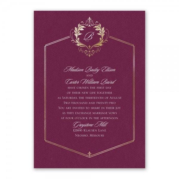 Royal Monogram Invitation