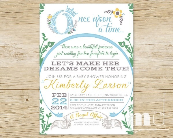 Once Upon A Time Baby Shower Invitations, Fairytale Baby Shower