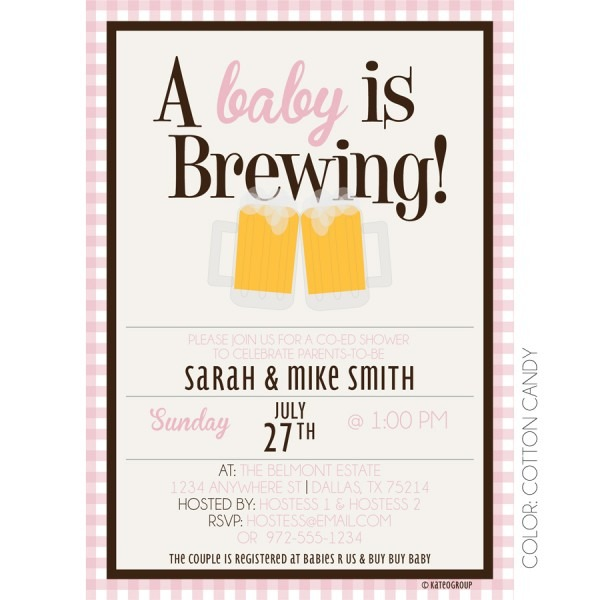 Baby Is Brewing Shower Invitations