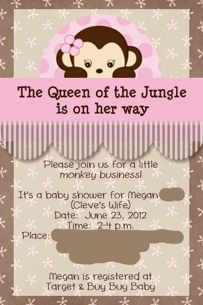 Baby Shower Ideas For Girls Queen The Jungle Girl Monkey