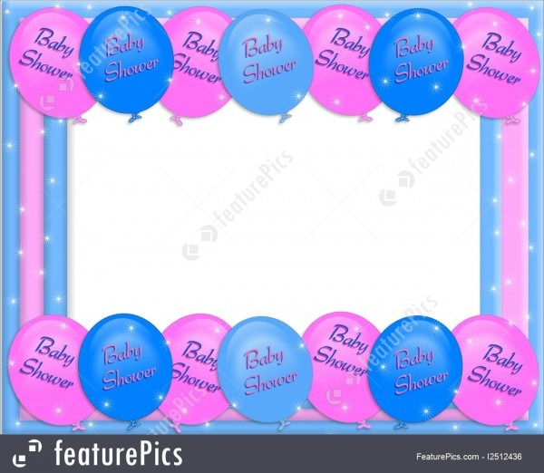 Baby Shower Invitation Border Illustration