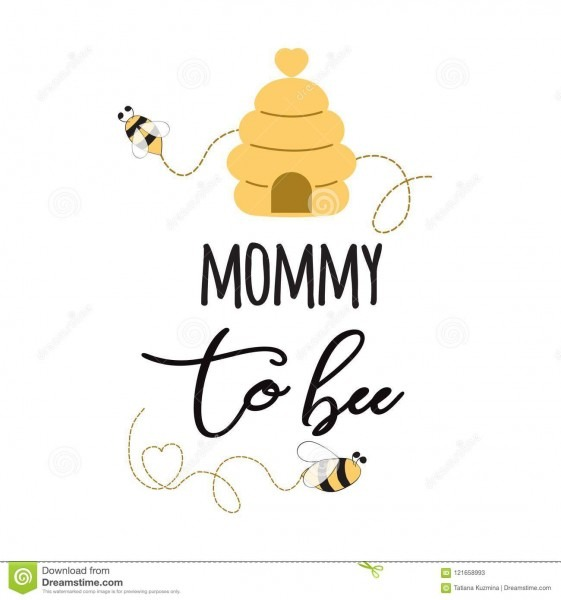 Baby Shower Invitation Banner With Text Mommy To Bee Cute Card