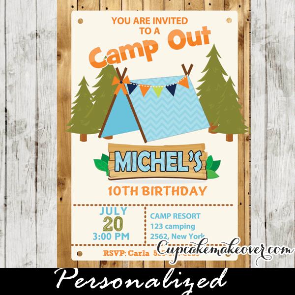 Invitation Ideas  Camping Party Invitations