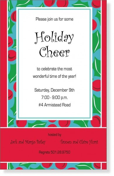 Bbq Party Invitations For Christmas – Fun For Christmas & Halloween