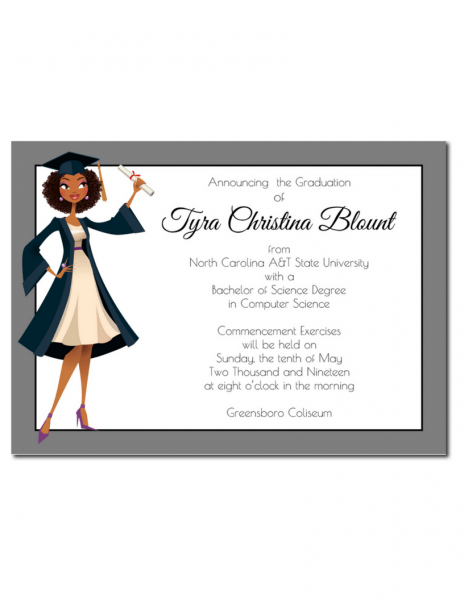 Jade African American Graduation Announcement