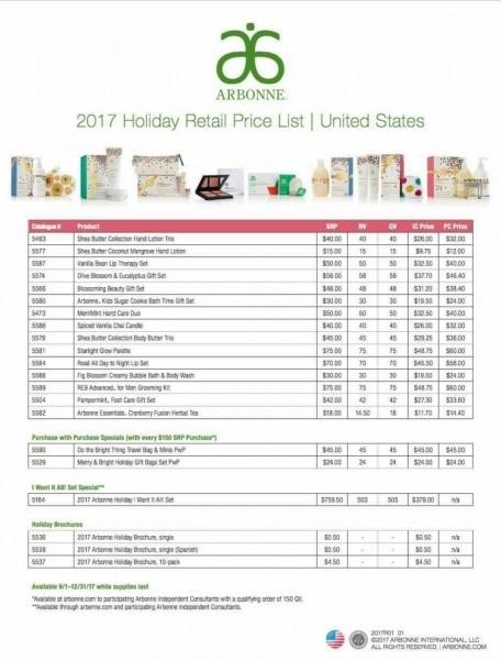 2017 Arbonne Holiday Price List Break Down!⛄❄ Shop @nicolevargas