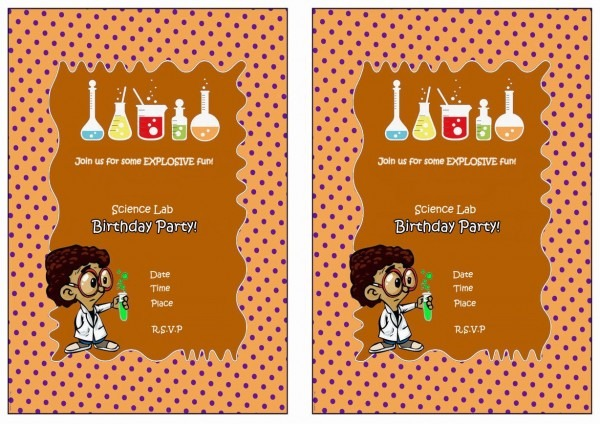 Free Printable Mad Science Birthday Invitations Scientist Party