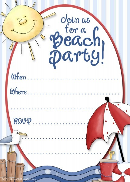 Nautical Birthday Invitations Beach Theme Adult Party Vintage