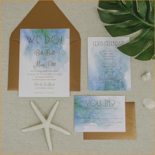 Luxury Beach Wedding Invitations Kits