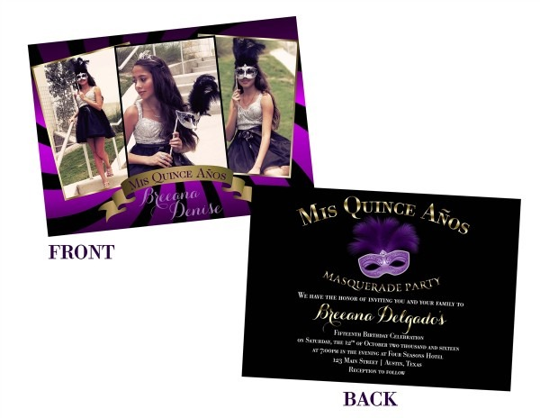 Best Quinceanera Invitations Masquerade 33 In Hd Image Picture