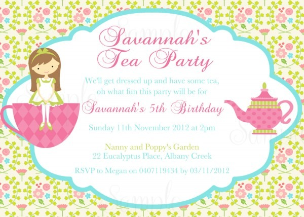 Best Tea Party Invites 91 With Additional Invitation Design