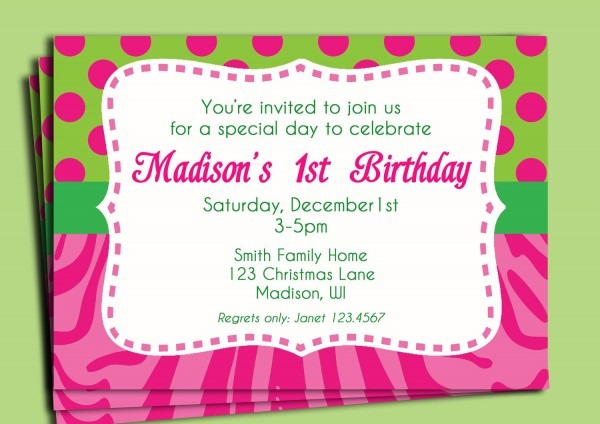 Birthday Invitation Text