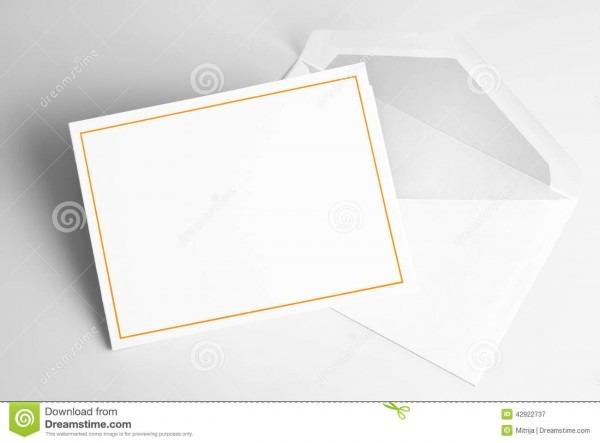 Blank Invitation Card And Envelope Stock Illustration