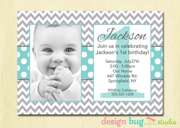 Birthday Invit Cool 1 Year Old Birthday Invitations
