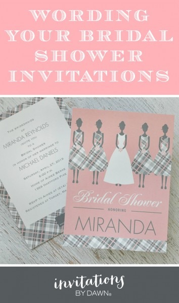 Wording Your Bridal Shower Invitations