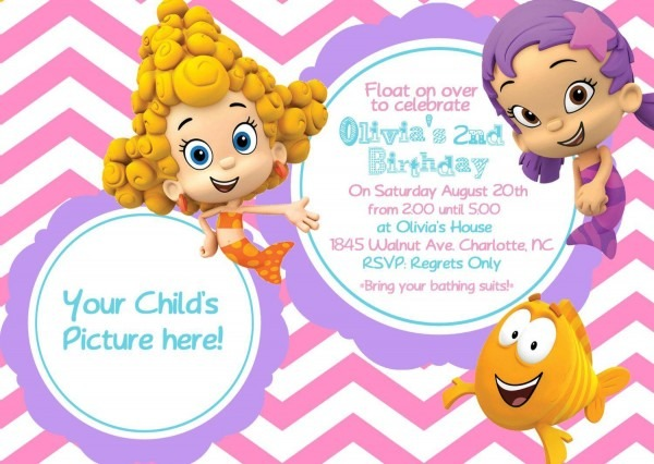 Bubble Guppies Birthday Party Invitations – Omg Invitation