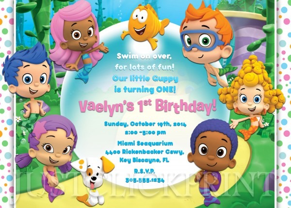 Bubble Guppies Birthday Invitation Printable Boy Girl · Just Click