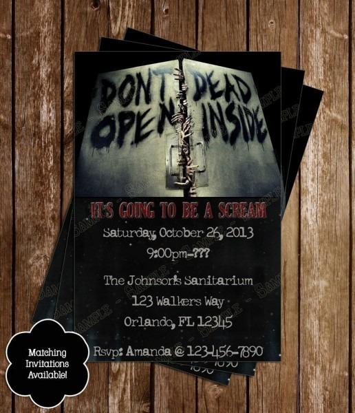 Walking Dead Birthday Party Invitation In 2018