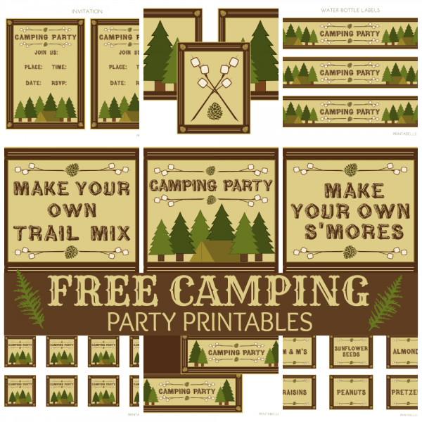 Free Camping Party Printables From Printabelle