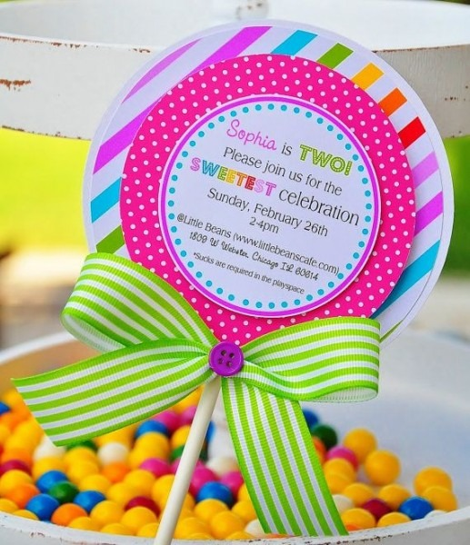 Stunning Candy Themed Party Invitations