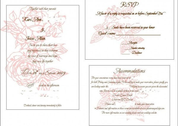 Card Insert Template Free Perfect Wedding Invitation Insert