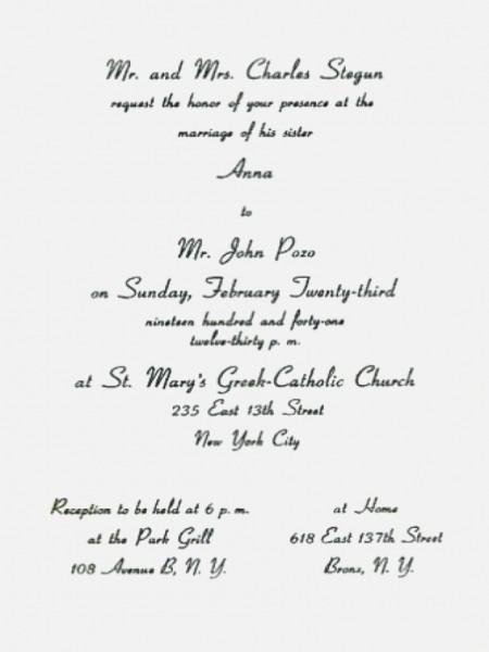 Catholic Wedding Invitation Wording New Traditional Wedding