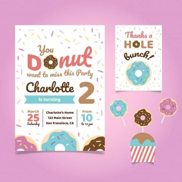 Bbdfeeddadc Unique Donut Invitation Template