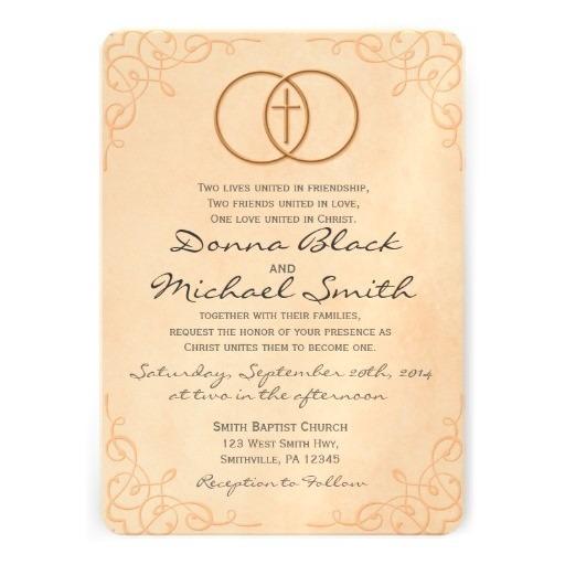 Christian Wedding Invitation Wording Christian Wedding Invitation