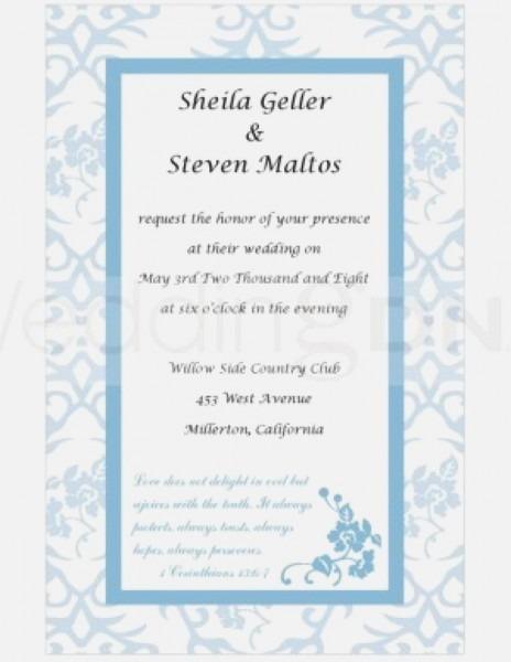 Christian Wedding Invitations New Printable Christian Wedding