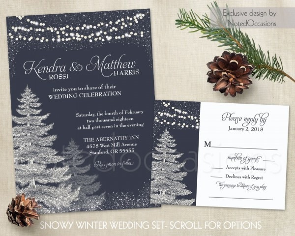 Christmas Wedding Invitation Templates – Festival Collections