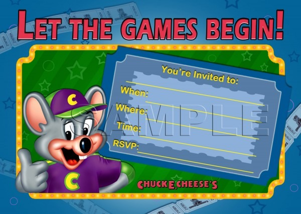 Chuck E Cheese Invitation Template Fabulous With 9