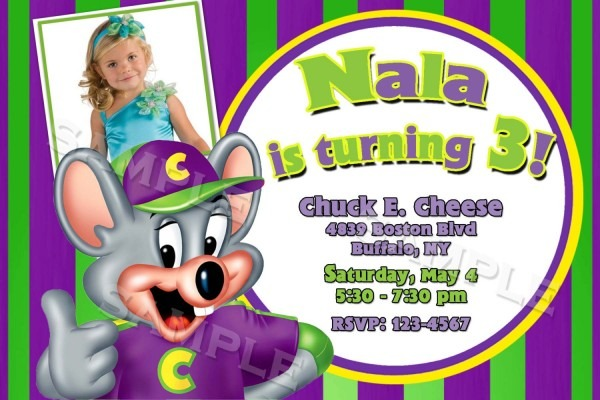 Chuck E Cheese Invitation Wording Chuck E Cheese Birthday