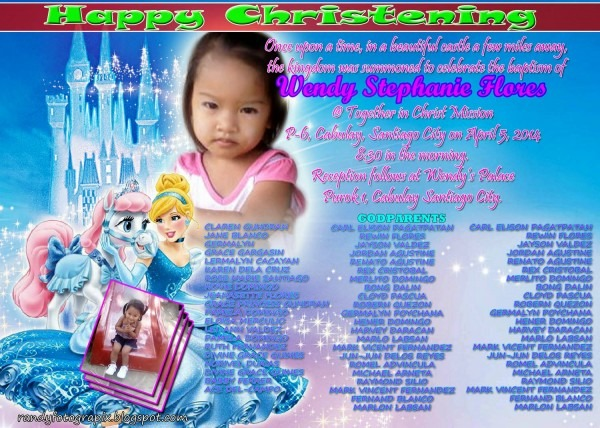Cinderella Christening Invitation