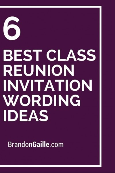 Class Reunion Flyer Template 6 Best Class Reunion Invitation