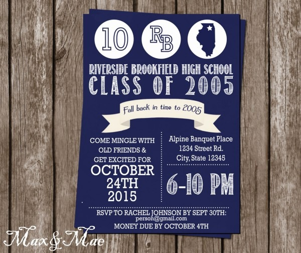 Class Reunion Flyer Template High School Reunion Invitation