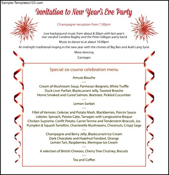 Year End Party Invitation Templates Reignnj Pertaining To New Year