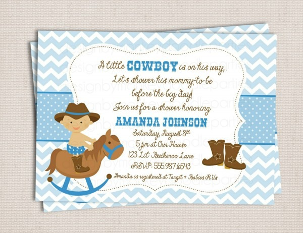 Cowboy Baby Shower Invitations Cowboy Baby Shower Invitations For
