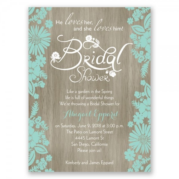 Wedding Accessories Cute Wedding Shower Invitations Brunch Themed