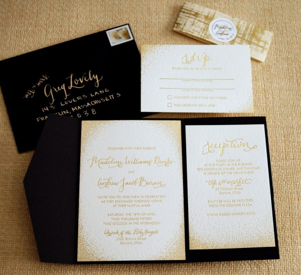 Creative Of Gold Wedding Invitations Black And Rose Gold Wedding
