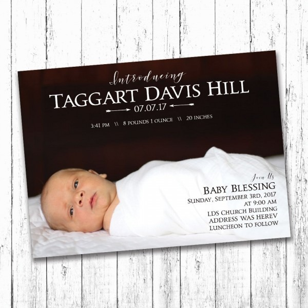 Browse Baby Blessing Invitation