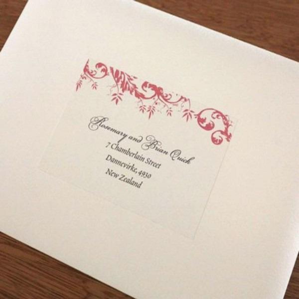 Custom Print Clear Return Address Labels For Wedding Invitations
