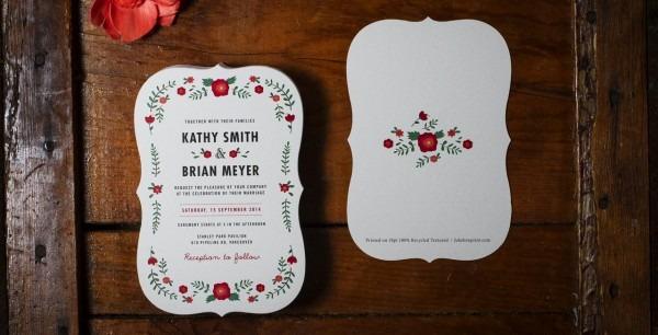 Custom Wedding Invitation Printing Custom Wedding Invitation