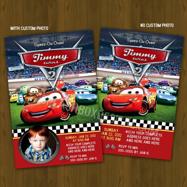 Cute Disney Cars Birthday Invitation 11 In Hd Image Picture With